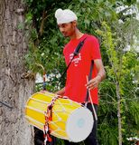 East Indian Drummer Stock Images