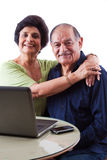 East Indian Elderly Woman with her husband Royalty Free Stock Photo
