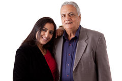 East Indian Father and Daughter Royalty Free Stock Image