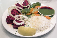 East Indian Lamb Kebab with Rice Stock Images