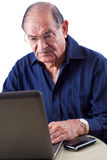 East Indian Man on Computer Royalty Free Stock Photography