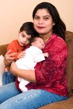 East Indian Woman and family Royalty Free Stock Image