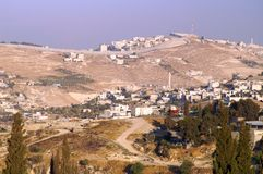 East jerusalem. A view to East Jerusalem and the wall Royalty Free Stock Photo