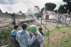 East Jerusalem Demolition Stock Photos