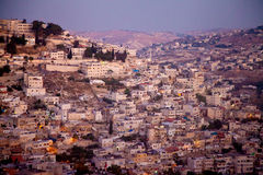 East Jerusalem in evening light Stock Image