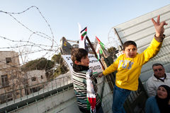 East Jerusalem Protest Stock Images
