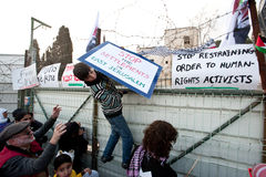 East Jerusalem Protest Royalty Free Stock Image