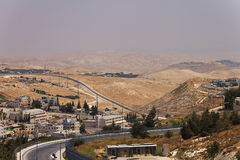East Jerusalem suburb and a West Bank town Royalty Free Stock Photography