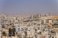 East Jerusalem suburb and a West Bank town Stock Image