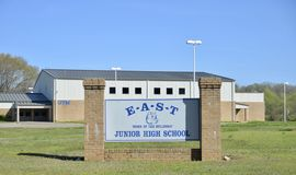 East Junior High School Bulldogs, Somerville, TN. East Junior High School Bulldogs, located at 400 Leach Rd, Somerville, Tennessee of the Fayette County School Royalty Free Stock Photo