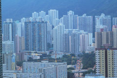 East of Kowloon side in Hong Kong Royalty Free Stock Photo
