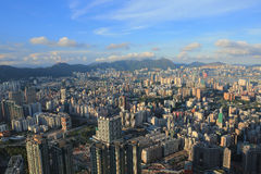 East of Kowloon side view Hong kong isaland at ICC Royalty Free Stock Photos