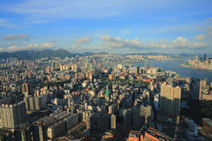 East of Kowloon side view Hong kong isaland at ICC Stock Images