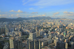 East of Kowloon side view Hong kong isaland at ICC Royalty Free Stock Photo