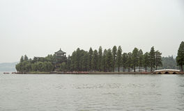 East lake in Wuhan, China. Park on East lake in Wuhan, China royalty free stock photos
