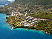 East Lefkas, aerial view. Royalty Free Stock Photography