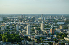 East London aerial view Royalty Free Stock Image