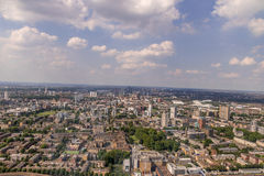 East London Aerial View Royalty Free Stock Images