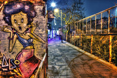 East London Graffiti. Artistic Graffiti in the East End of London royalty free stock photos
