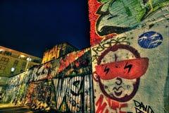 East London Graffiti. Artistic Graffiti in the East End of London Stock Photo