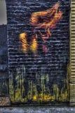 East London Graffiti. Artistic Graffiti in the East End of London stock photos