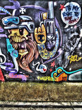 East London Graffiti. Artistic Graffiti in the East End of London Royalty Free Stock Images