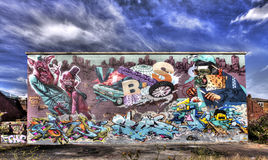 East London Graffiti. Artistic Graffiti in the East End of London Stock Images