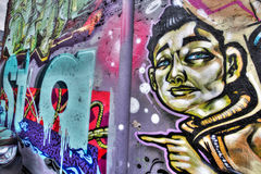 East London Graffiti. Artistic Graffiti in the East End of London stock photography