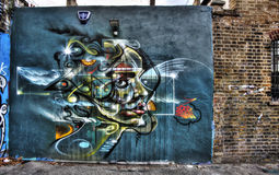 East London Graffiti. Artistic Graffiti in the East End of London royalty free stock image