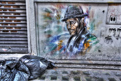 East London Graffiti. Artistic Graffiti in the East End of London Royalty Free Stock Photography