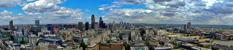 East London panorama Royalty Free Stock Photo