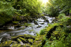 East Lyn river, Watersmeet, North Devon, UK Stock Image