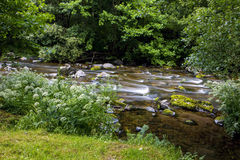 East Lyn river, Watersmeet, North Devon, UK Royalty Free Stock Images