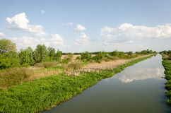 East-Main Canal at Tiszavasvari, Hungary Royalty Free Stock Photos