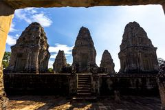 East Mebon Angkor Wat Siem Reap Cambodia South East Asia is a 10th Century temple at Angkor, Cambodia. Stock Images