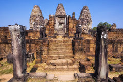 East Mebon Temple at Angkor, Siem Reap, Cambodia Royalty Free Stock Images