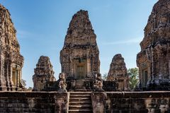 East Mebon temple in the Angkor Wat complex in Siem Reap, Cambodia. royalty free stock images