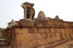 East Mebon temple ruins Stock Image