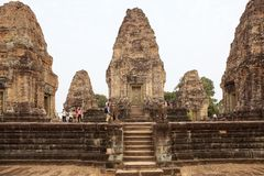 East Mebon temple ruins Royalty Free Stock Image