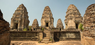 East Mebon towers panorama. East Mebon towers on the top Royalty Free Stock Image