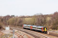 East Midlands class 158 diesel multiple unit train Royalty Free Stock Image