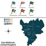 East midlands, Reino Unido ilustración del vector