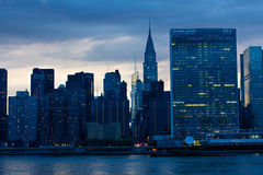 East Midtown at Night Stock Image