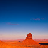 East Mitten Butte. At sunset in Monument Valley Tribal Park, Arizona Stock Photos
