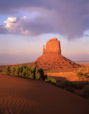 East Mitten Butte. Desert butte in Monument Valley, Arizona royalty free stock images