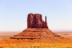 East Mitten Butte. Famous rock formation East Mitten Butte in Monument Valley Stock Image