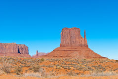 East Mitten in Monument Valley Royalty Free Stock Photo