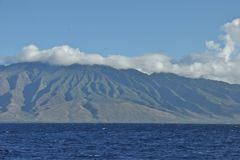 East Molokai. From Pailolo Channel Royalty Free Stock Photography