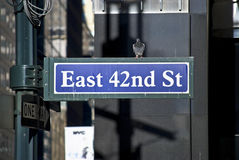East 42nd St Royalty Free Stock Photo
