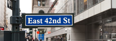 East 42nd st. In New York stock image
